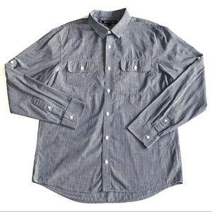 Michael Kors Men's Check Casual Button Down Shirt